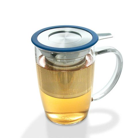 ewLeaf Tall Tea Mug is designed for simple and clean way of brewing just one fresh cup of tea. The extra fine tea infuser enables you to brew fine teas such as Rooibos tea to large whole-leaf teas like Oolong tea. The lid functions as a drip dish for infuser.