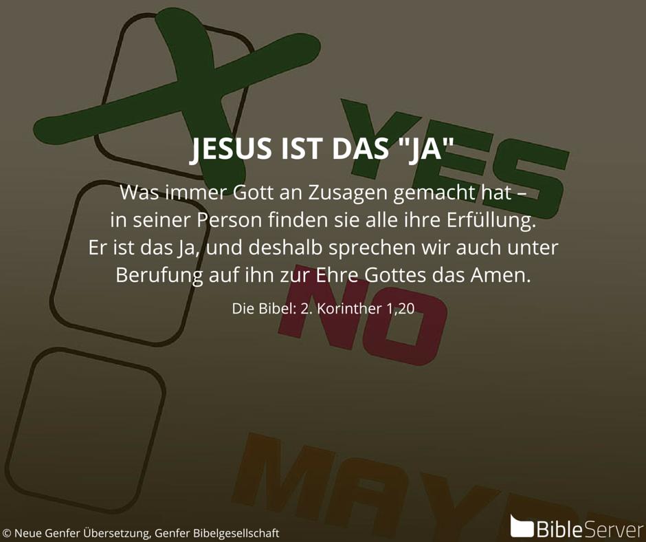 Bibelvers Nachzulesen In Der Bibel Auf #BibleServer   2. Korinther 1,20