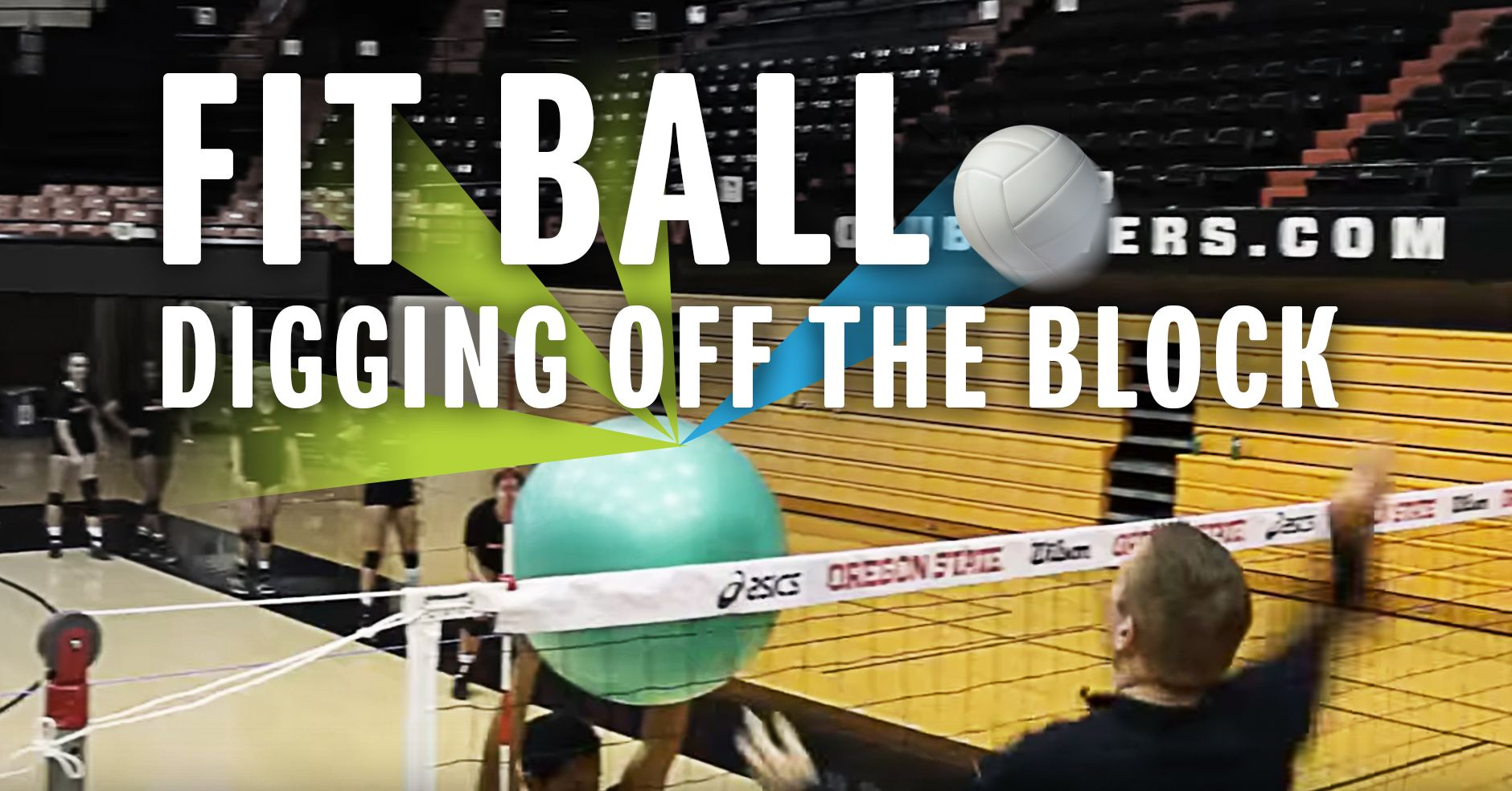 Digging Off The Block Drill Using A Fit Ball Volleybaltraining Volleybal Training Volleybal