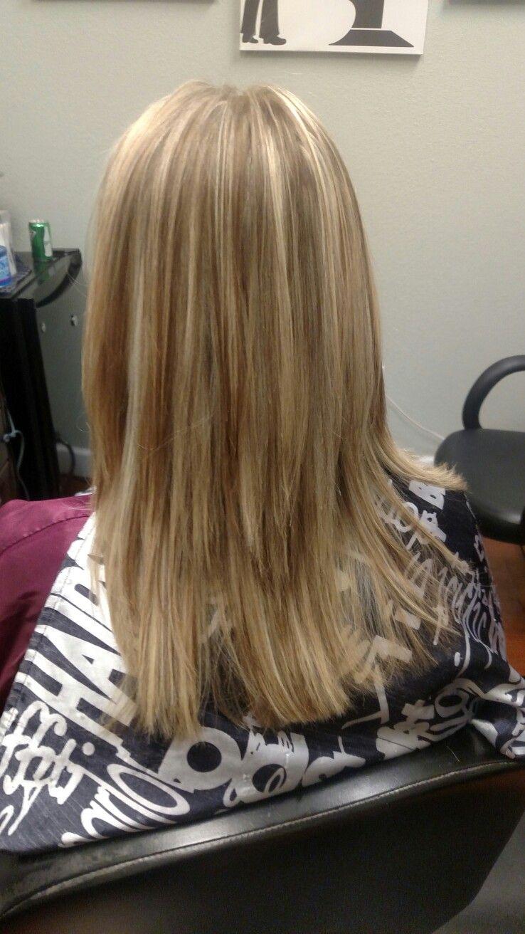 Blonde highlights. Framesi diamond bleach . Hair salon
