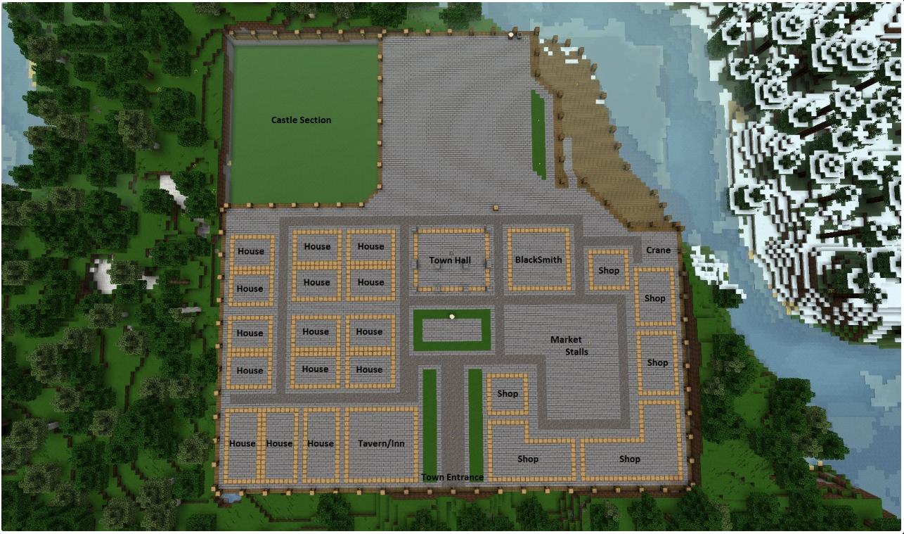 Medieval Village Layout Idea  From       Imgkid Com  Minecraft