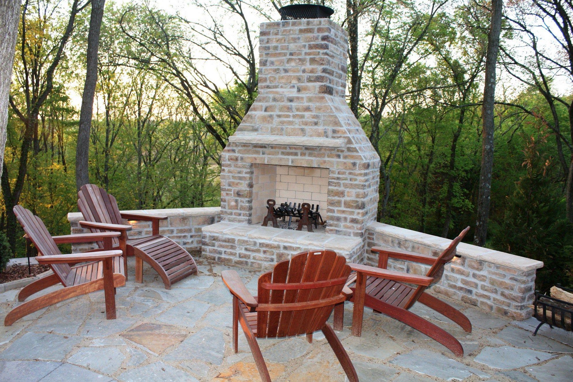 How Design Your Brick Outdoord Fireplace Brick Outdoor Corner