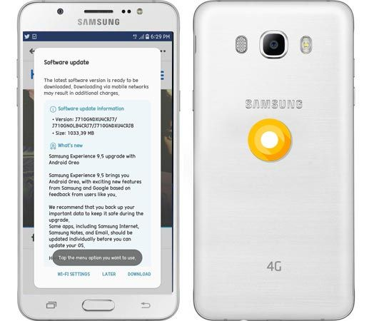 Samsung Galaxy J7 2016 J710GNDXU4CRJ7 Oreo Update 81 Official