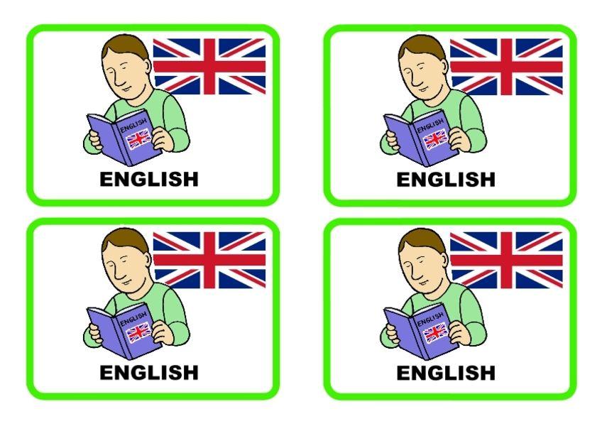 englanninkieliset päivälokerikkokortit kouluun