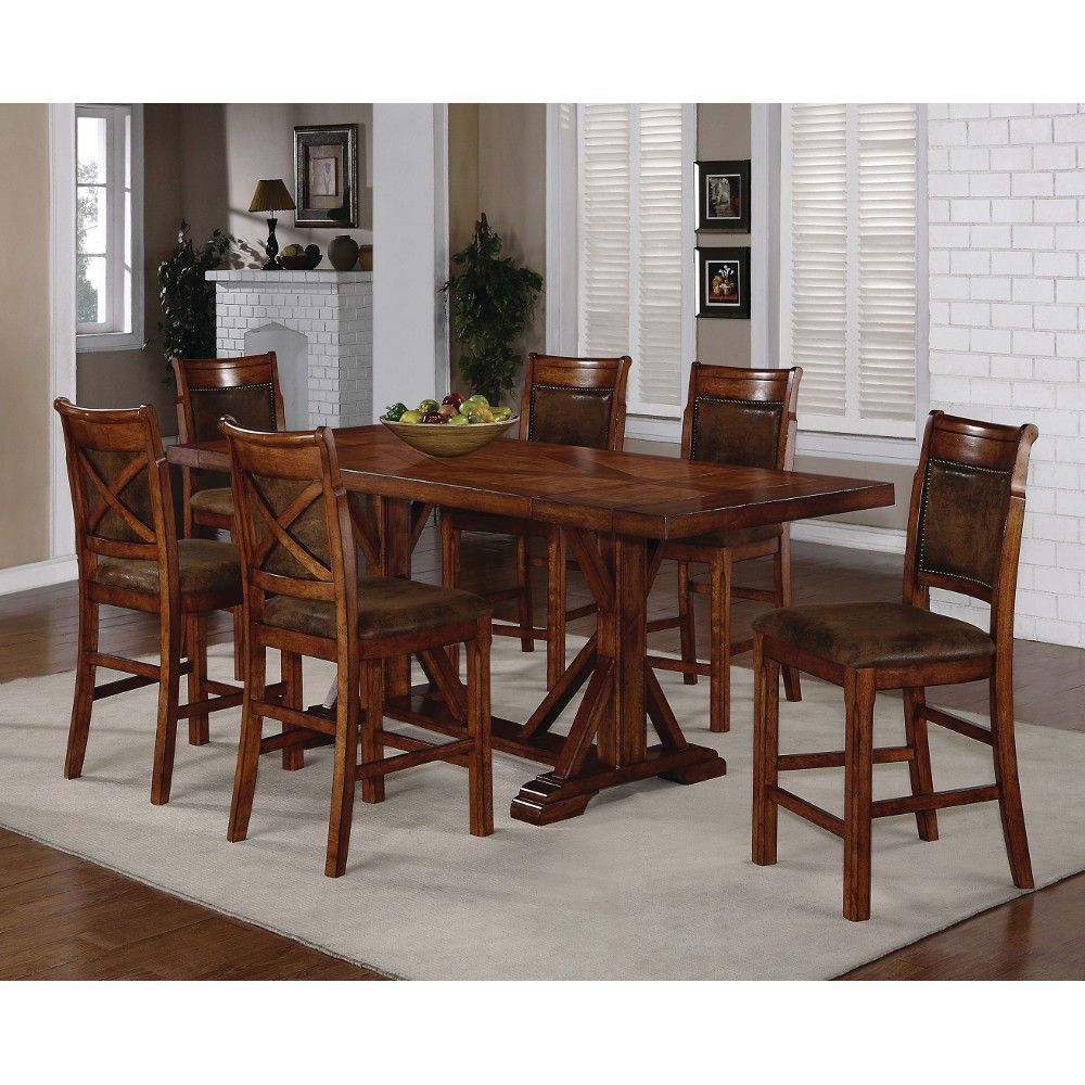 STEEL TRADITIONS - AUSTIN ROUND DINING TABLE - Green Gables