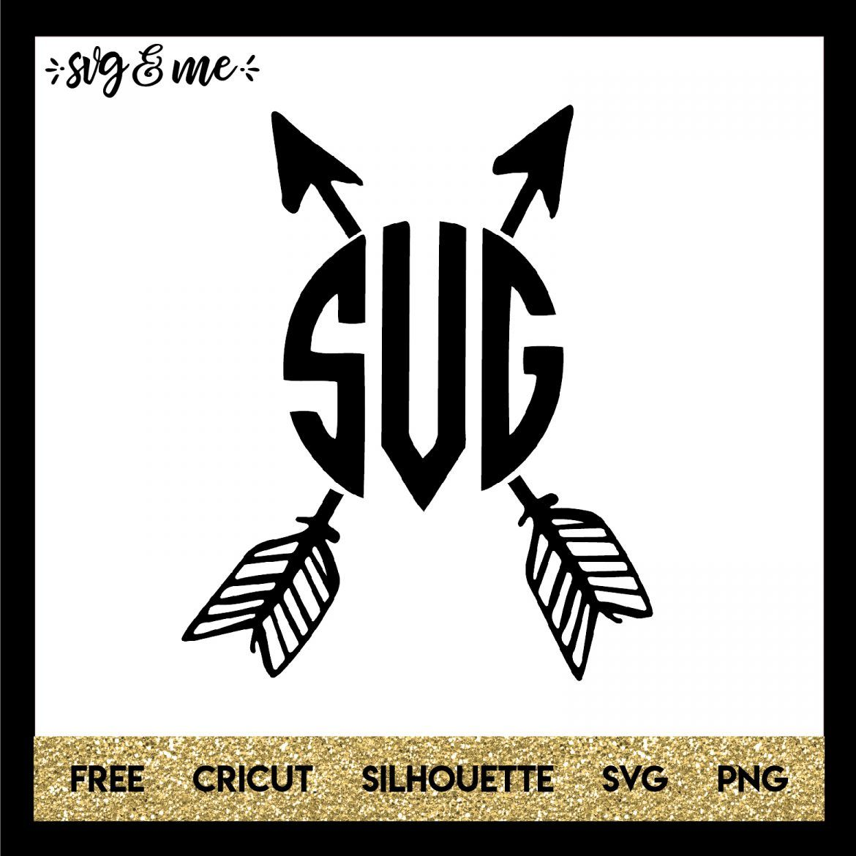 Boho Crossed Arrows Monogram SVG & Me Cricut monogram