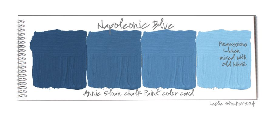 Napoleonic Blue Old White Colorways February 2014 Annie Sloan ChalkPaint