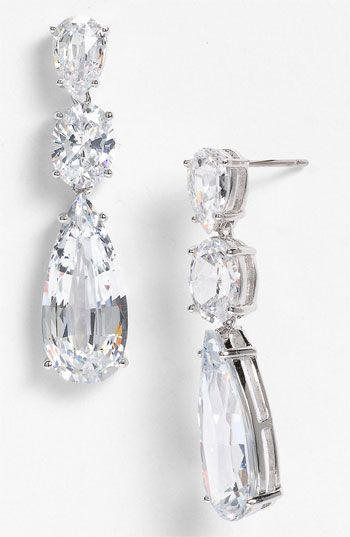 Nadri Cubic Zirconia Linear Earrings Nordstrom Exclusive available