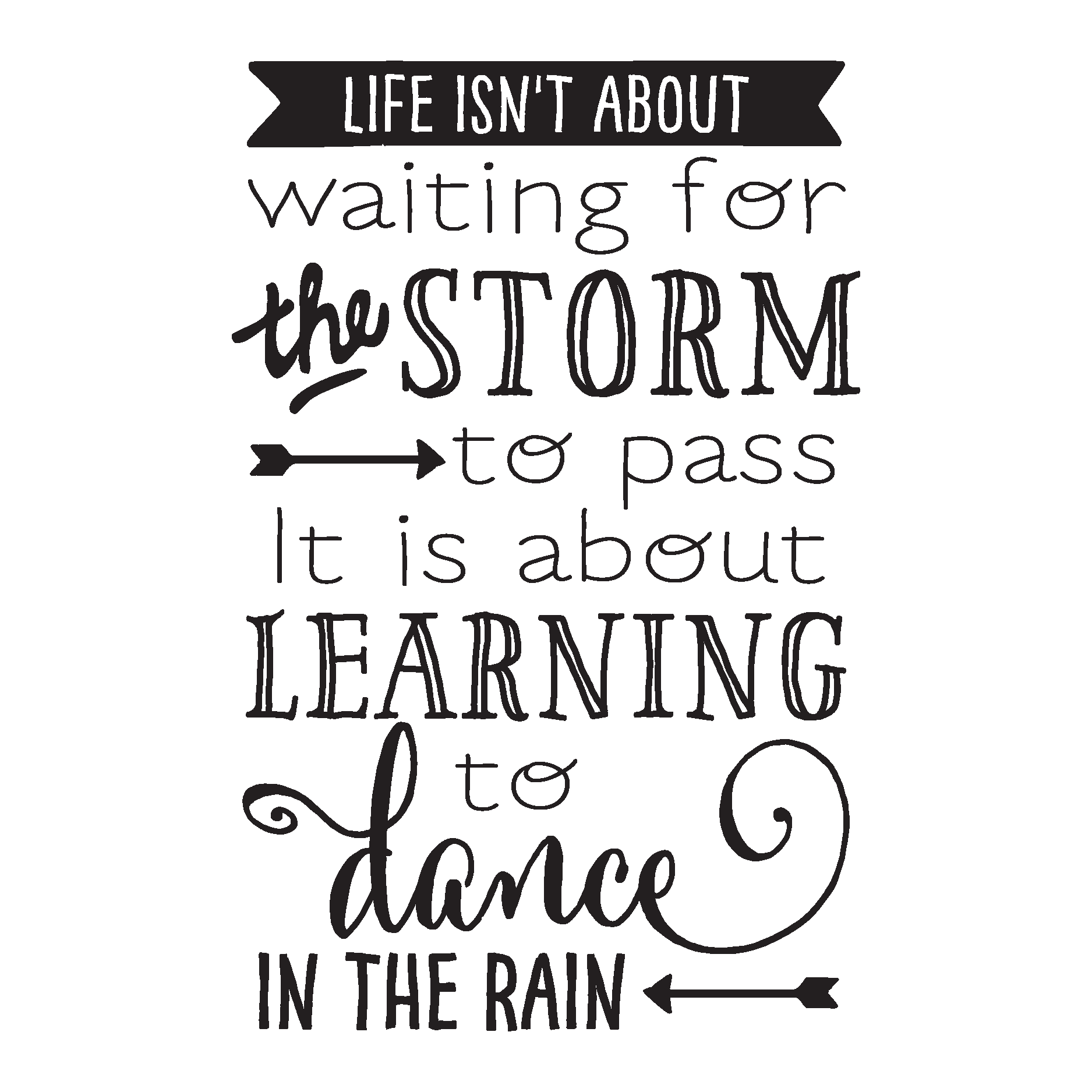 Life Dancing In The Rain Quote Life Isn't About Waiting For The Storm To Pass It's About Learning