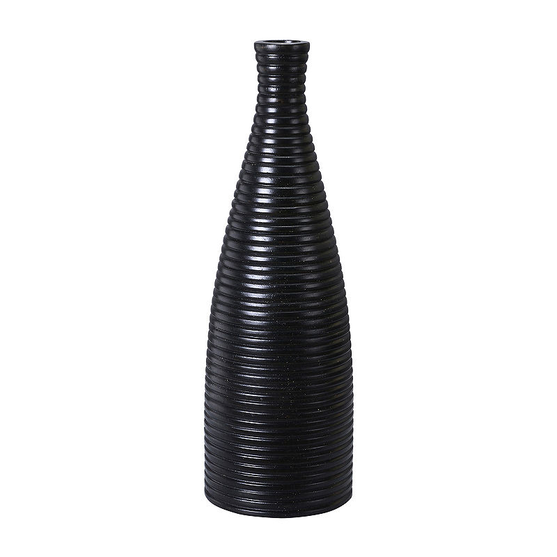 Black Mango Wood Vase Wood Vase Vacation Shop Shopping Sale
