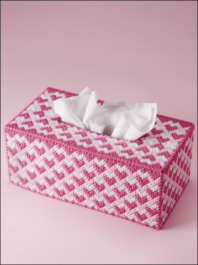 Plastic Canvas Long Stitched Tissue Box Cover From E Patterns