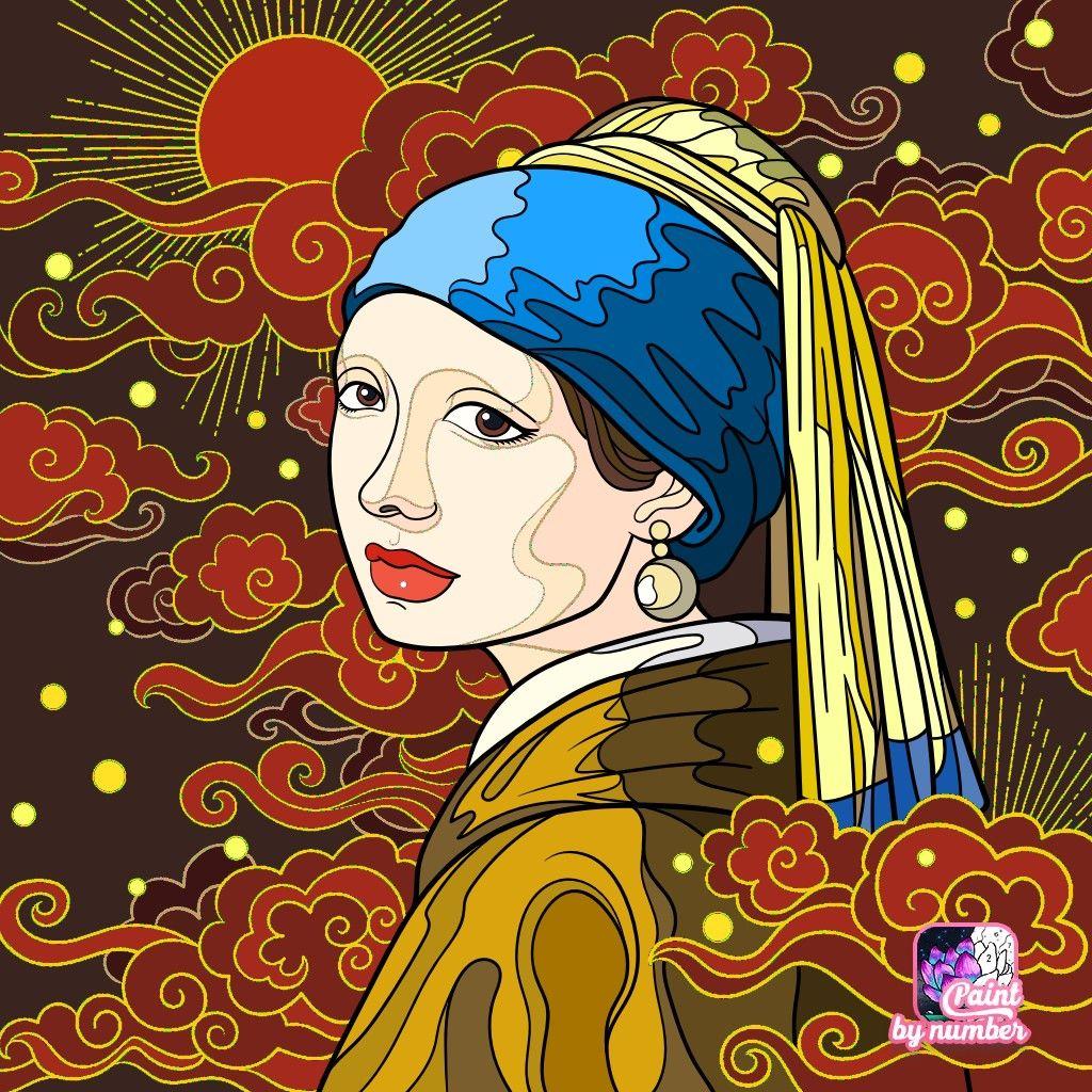 La joven de la perla... EM... 24.10.19 | Kleuren, Schilder