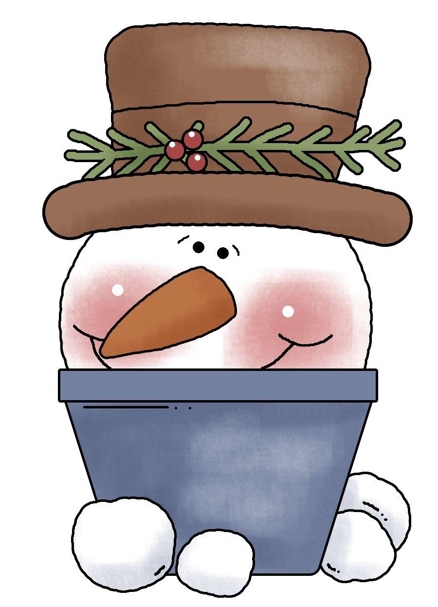 Cute snowman   Clipart   Pinterest   Weihnachten, Malerei and Ideen