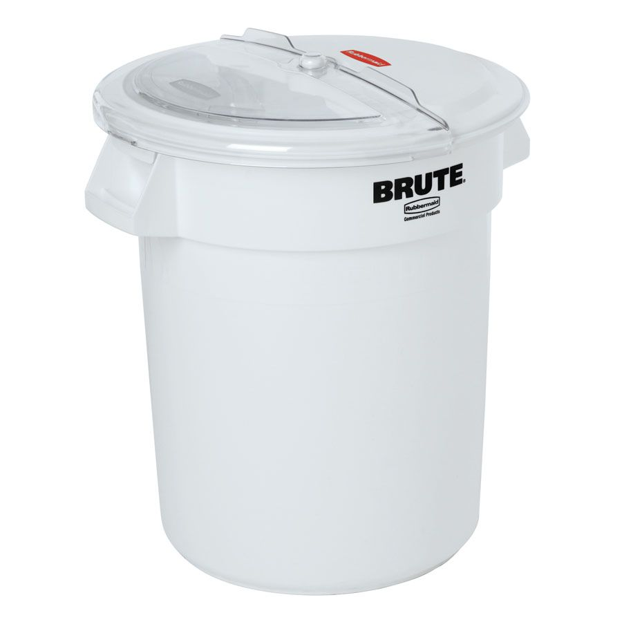 Rubbermaid Fg9g7400wht Prosave Brute 20 Gallon 320 Cup White Flat Top Ingredient Storage Bin With Sliding Lid Scoop Rubbermaid Flour Storage Flour Container