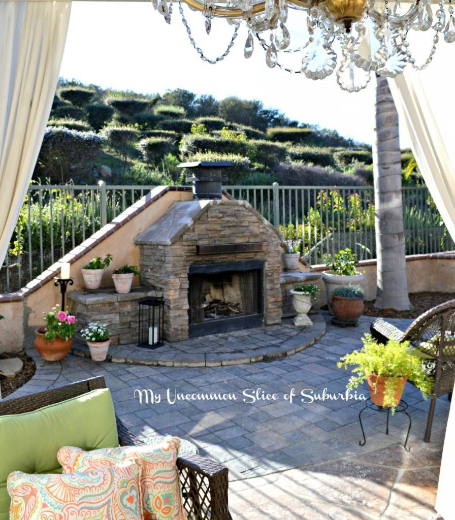How to Build an Outdoor Stacked Stone Fireplace Stone fireplaces
