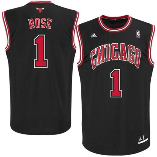 beba0784d86 Derrick Rose Chicago Bulls Toddler Replica Alternate Jersey by Adidas