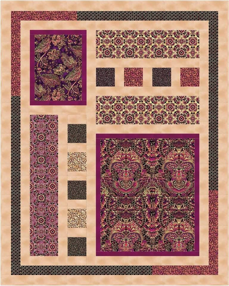 Image result for Quilt Patterns Using 5 Fabrics | Quilting | Pinterest