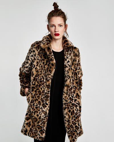 Abrigo leopardo zara 2019