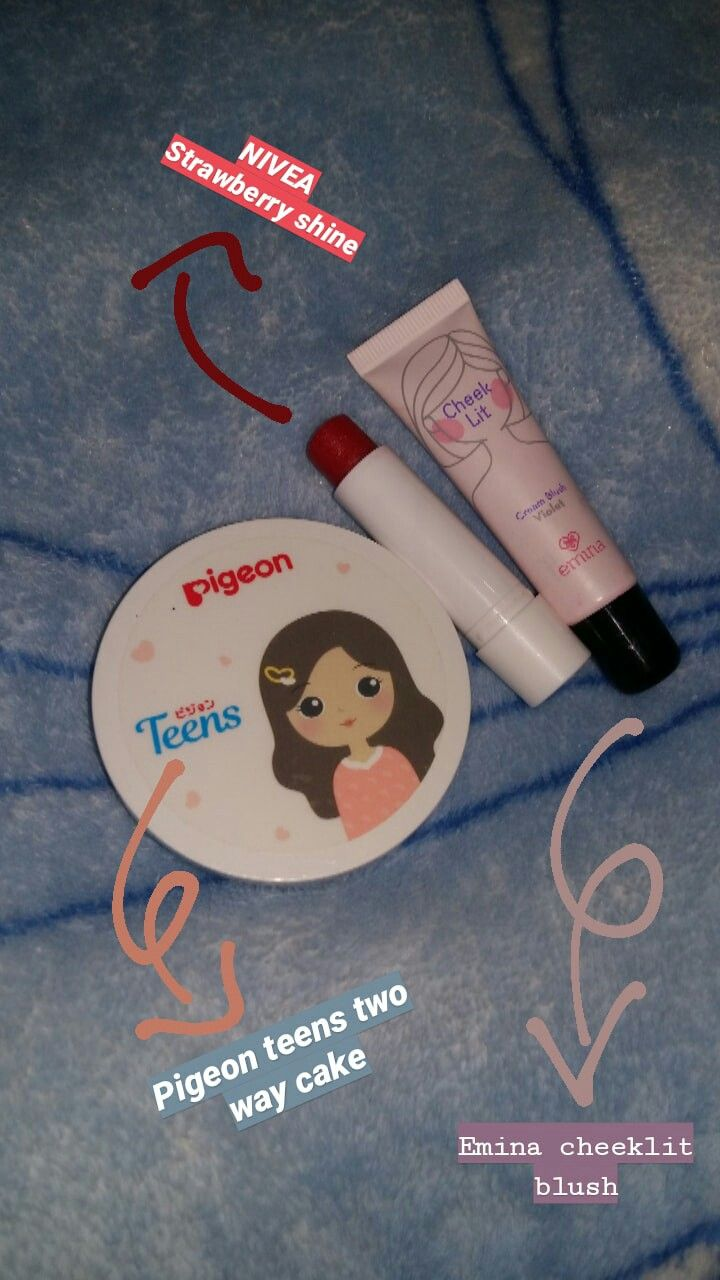 MAKE UP, natural make up remaja emina, pigeon, nivea