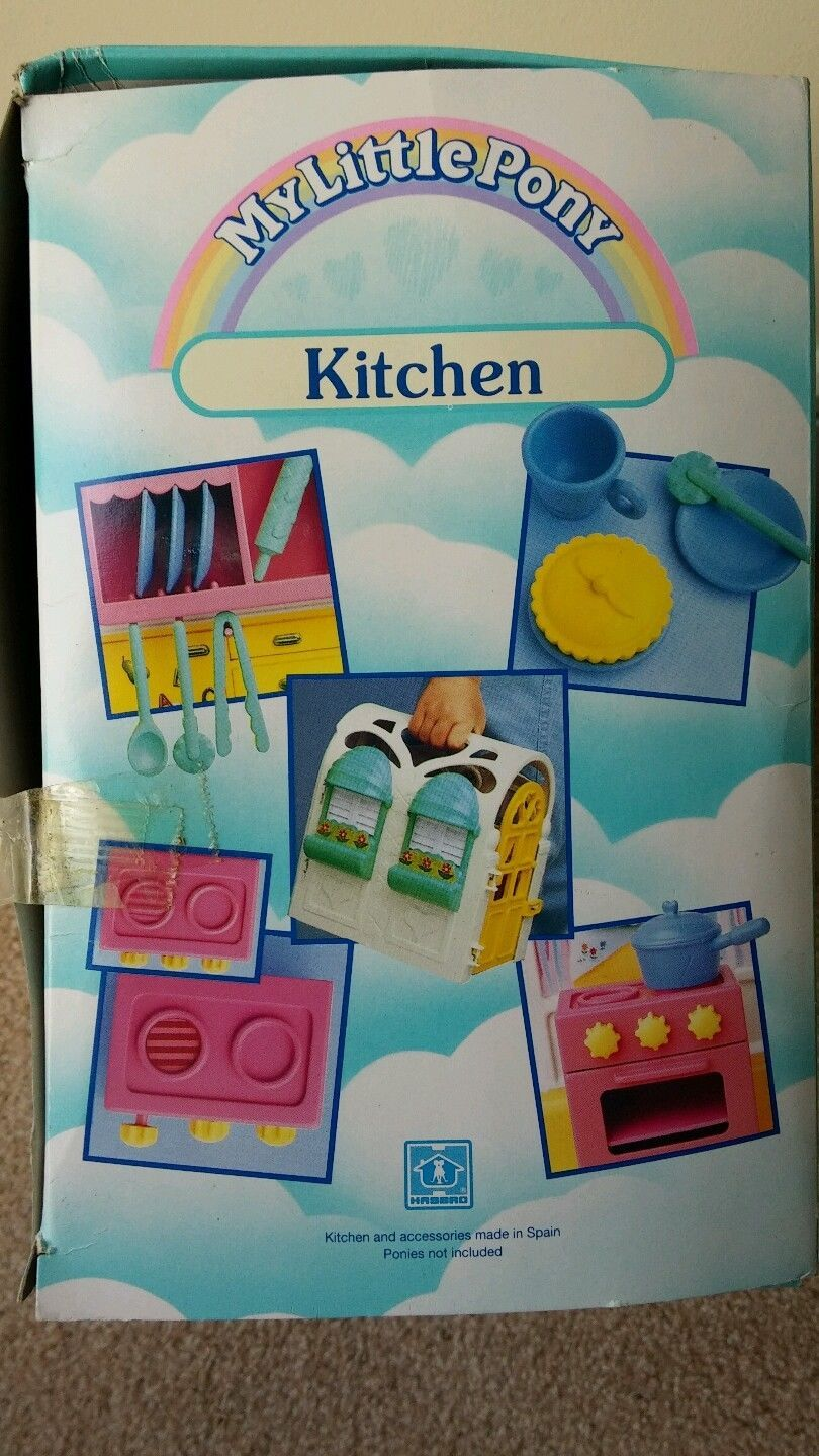 1991 MY Little Pony G1 UK Vintage Accesories FOR Kitchen BOX FOR ...