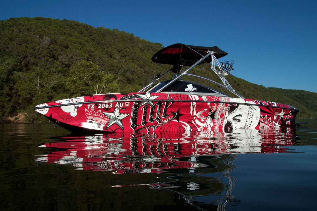Checkout This Wrap By WakeGraphics Boatwrap Wraps Around The - Sporting boat decalsbest boat wraps custom vinyl images on pinterest boat wraps