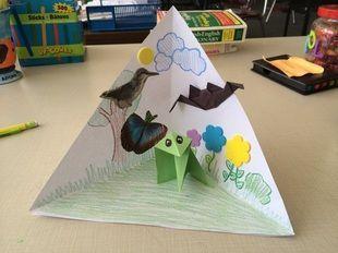 how to make a triangle diorama