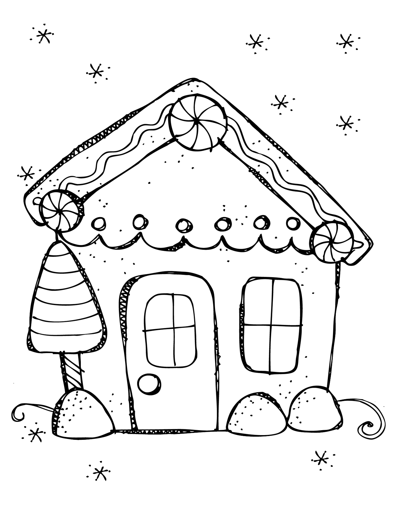 Startling Whoville Houses Coloring Snowflake