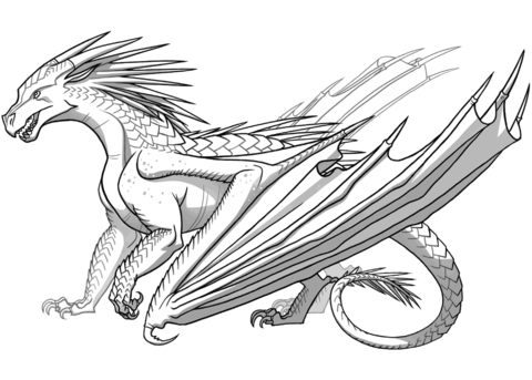 Grab Your New Coloring Pages Dragons For You Http Www Gethighit Com New Coloring Pages Dragons For Wings Of Fire Wings Of Fire Dragons Dragon Coloring Page