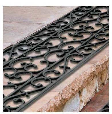 Best Extra Wide 48 Rubber Scroll Stair Treads Set Of 3 Outdoor 400 x 300
