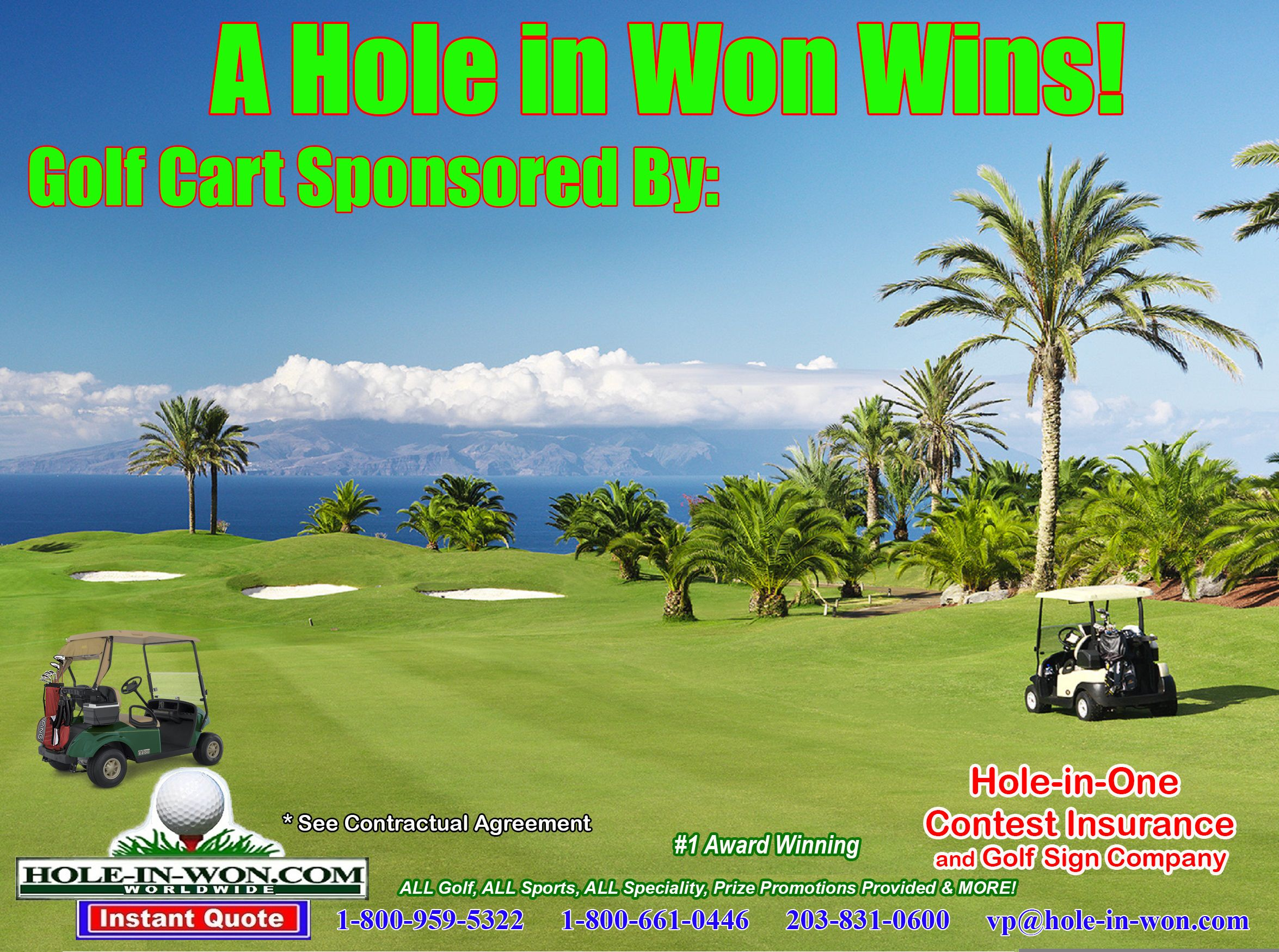 Pin On Golf Cart Hole In One Insurance For Golf Car Company