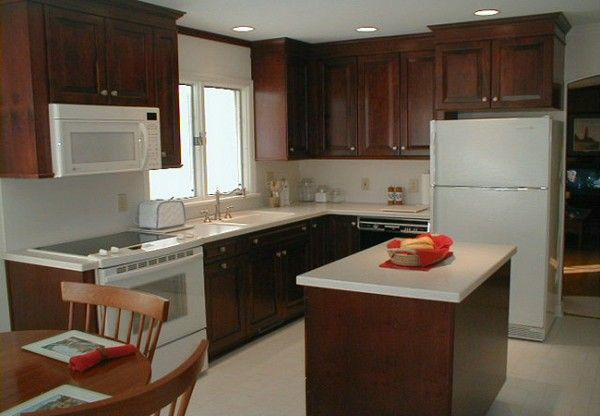 Wood Cabinets and White Appliances (not the white ...