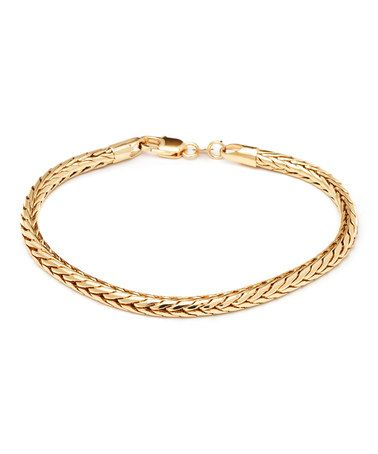 Love this Gold Wheat Link Bracelet on #zulily! #zulilyfinds