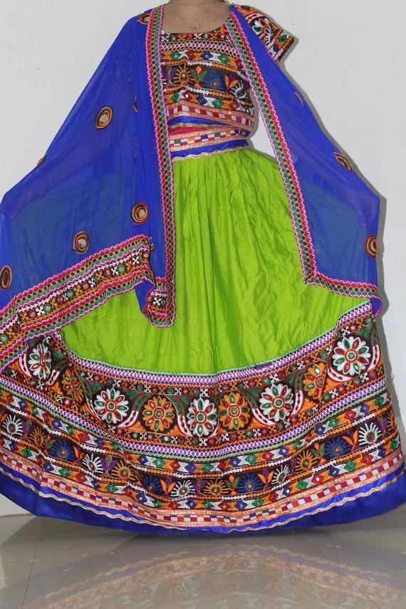 navratri chaniya choli Ethnic traditional readymade gamthi Kutch Patch work /garba/dandiya/lehenga skirt crop top