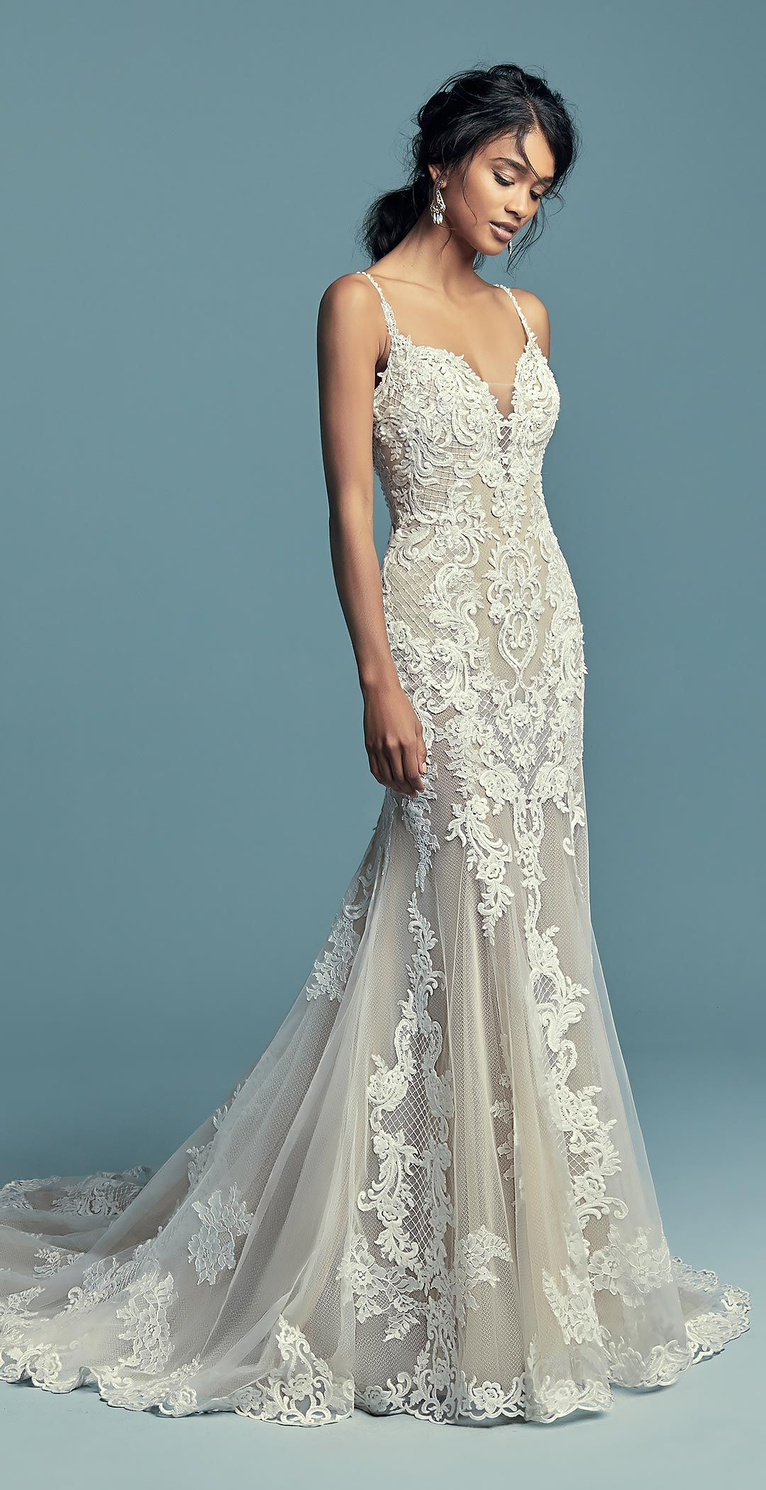 Maggie Sottero Wedding Dresses | Pinterest | Embroidered lace ...