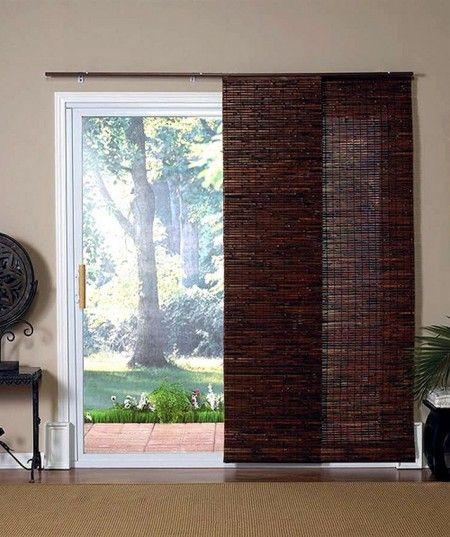 Wooden Vertical Blinds For Sliding Glass Patio Door Draperies