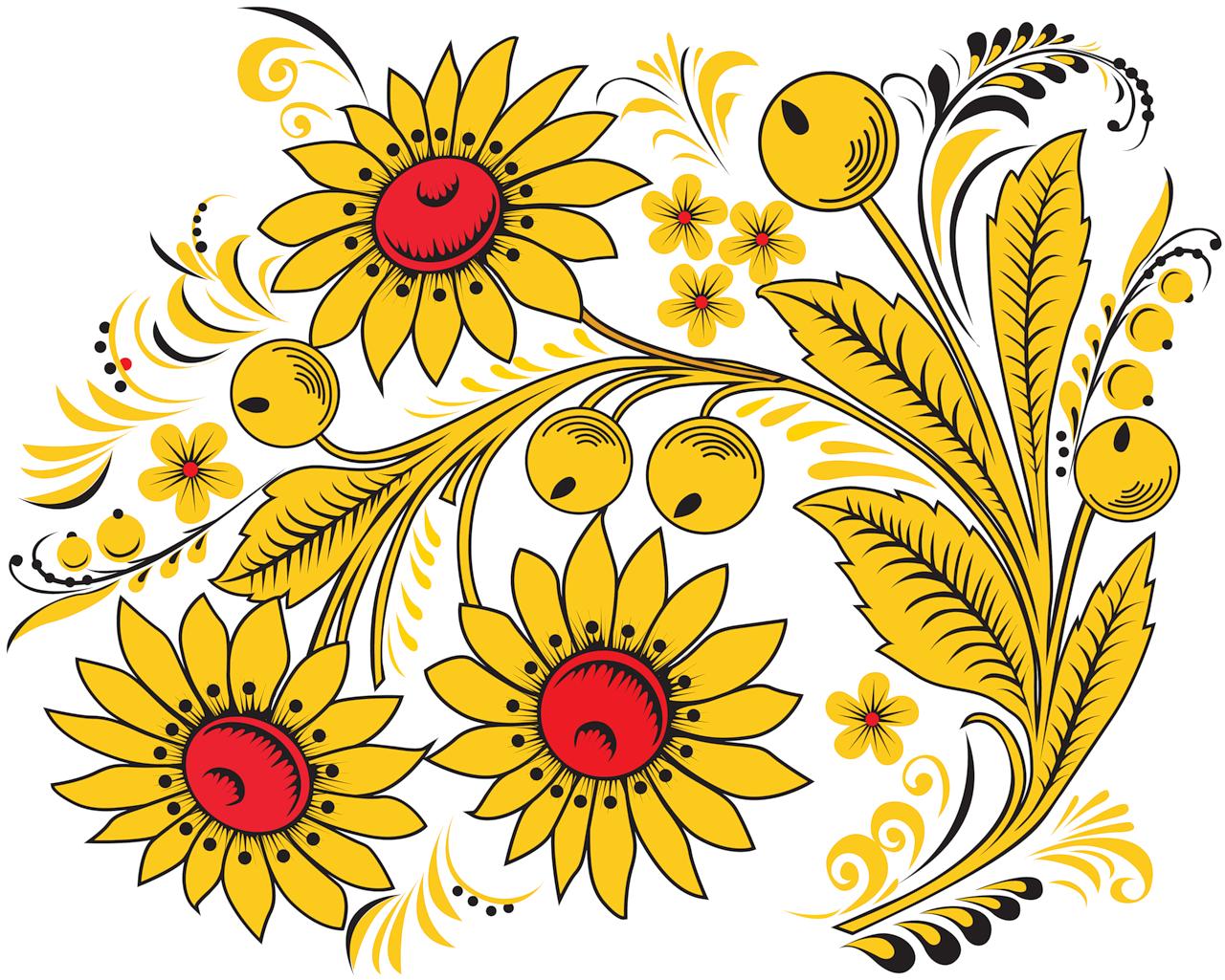 Русский орнамент картинки цветы, пожеланием