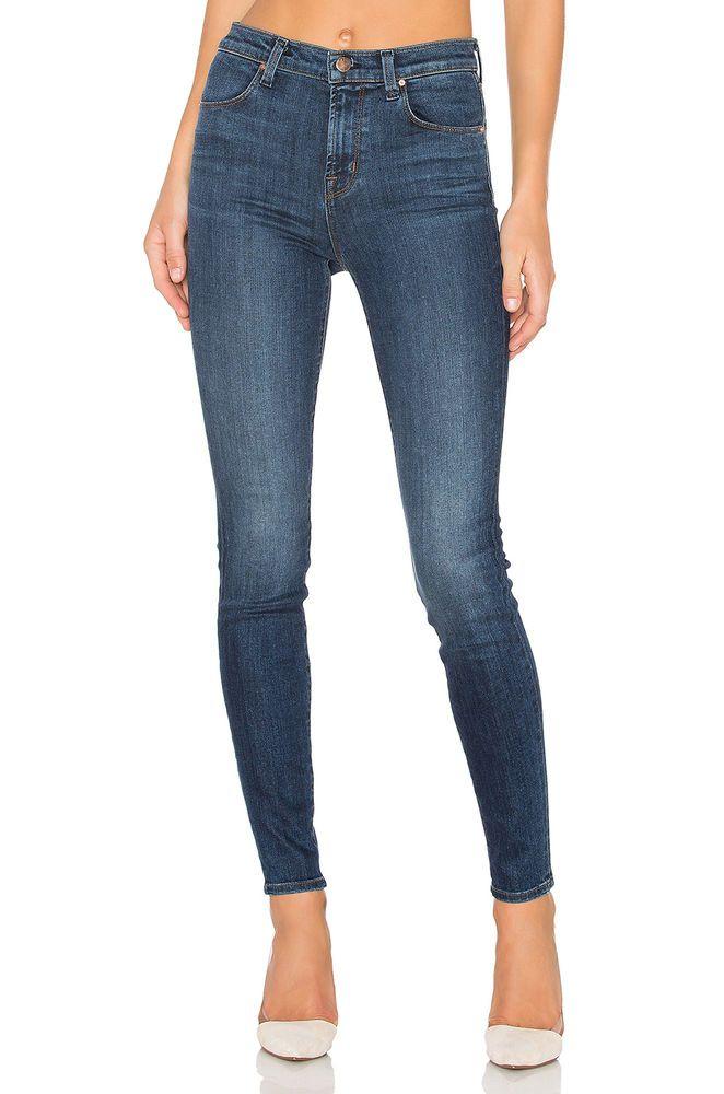 e55d11f39c4 J BRAND Maria High Rise Slim Skinny Jeans Pants Fleeting in Dark Blue 24   198  JBrand  SlimSkinny