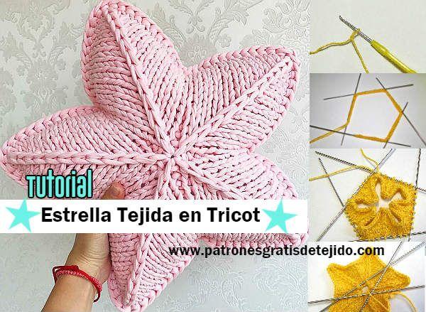 Cómo tejer la estrella con agujas o palitos / Tutoriales | Crochet y ...