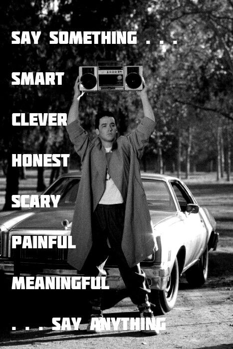 One Of My Favorites Sayanything Great Movies Movies 80s Movie