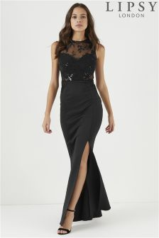 efaa7cca794f Lipsy Petite Embroidered Sequin Insert Maxi Dress | Gorgeous ...