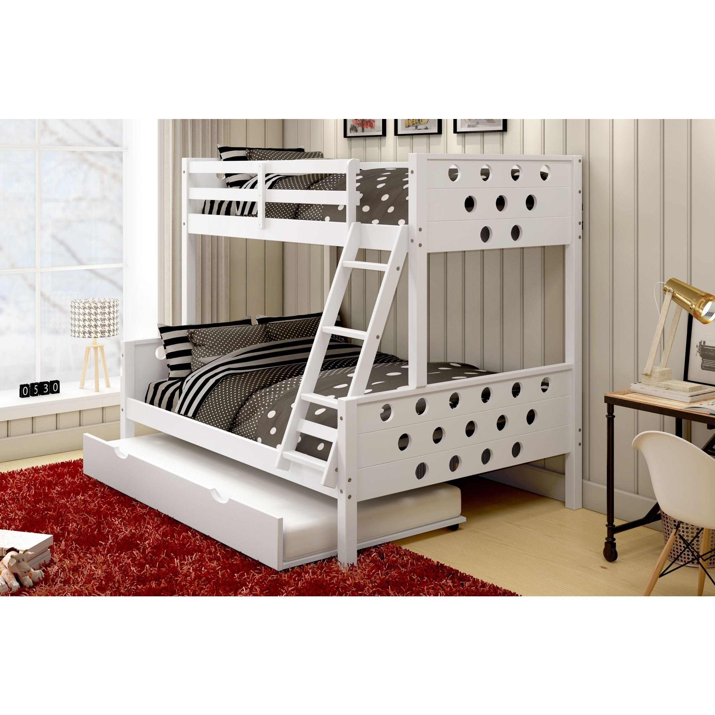The Donco Kids Circles Bunk Bed Efficiently Saves Space In Any