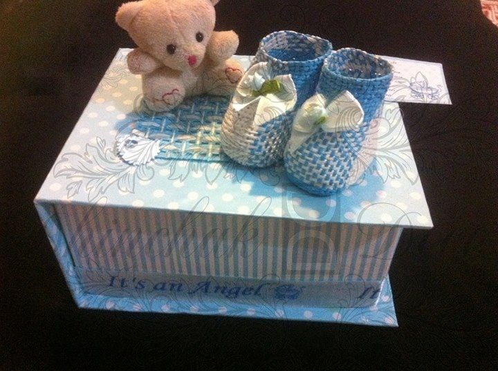 Hut shape baby boy birth announcement boxes for orders kindly – Baby Announcement Boxes