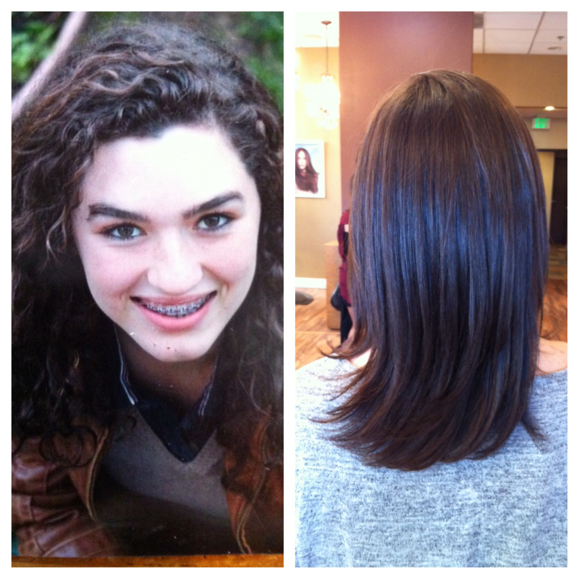 Before After Brazilian Blowout Done At Maximum Image Salon Riverside Ca Natural Hair Styles Short Hair Styles Pixie Model Hair