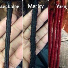 Photo compte Instagram (protectedbymarley) Faux locs. Coiffure protectrice.  Avec mèches à tresser de types  Kanekalon, avec mèches à tresser de type Marley Braids, avec de la laine.
