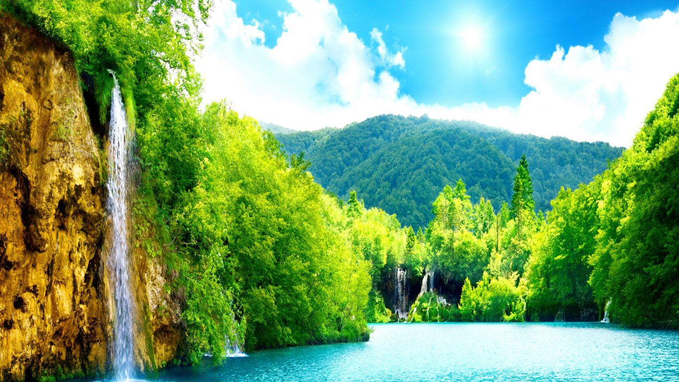 The Most Awesome Water Fall Wallpaper On Internet