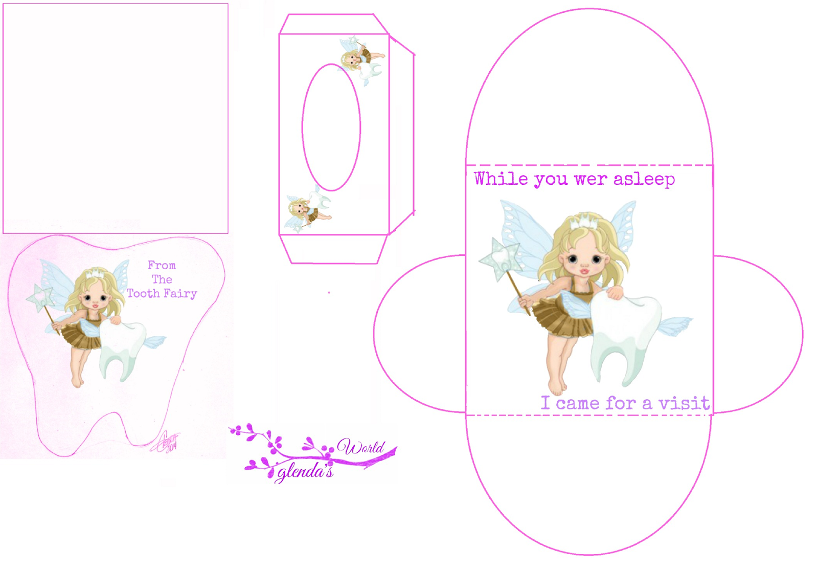 image relating to Tooth Fairy Card Printable called Pin by way of April Shewmaker upon Remarkable Teeth fairy, Fairy
