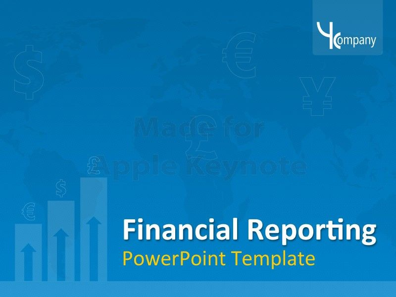 Financial Statement Template - Editable Apple Keynote Presentation - financial report template