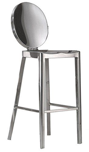 Replica Philippe Starck Kong Stainless Steel Counter Stool W O Arms