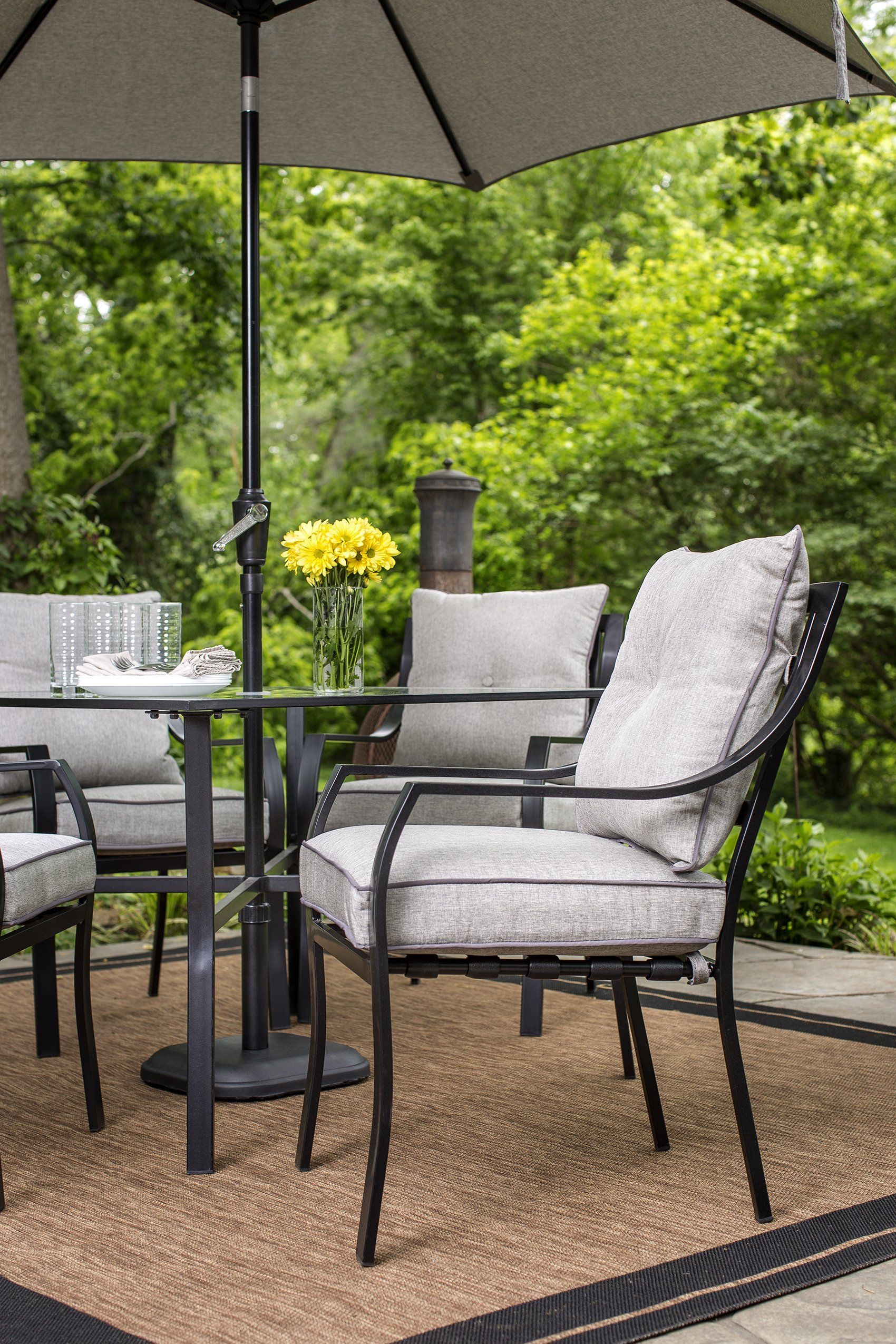Hanover Lavallette 7 Piece Outdoor Dining Set with Table