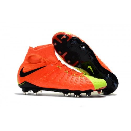 e4f2db72 Scarpe Da Calcio Nike Hypervenom Phantom III DF FG Arancione Verdes Nere